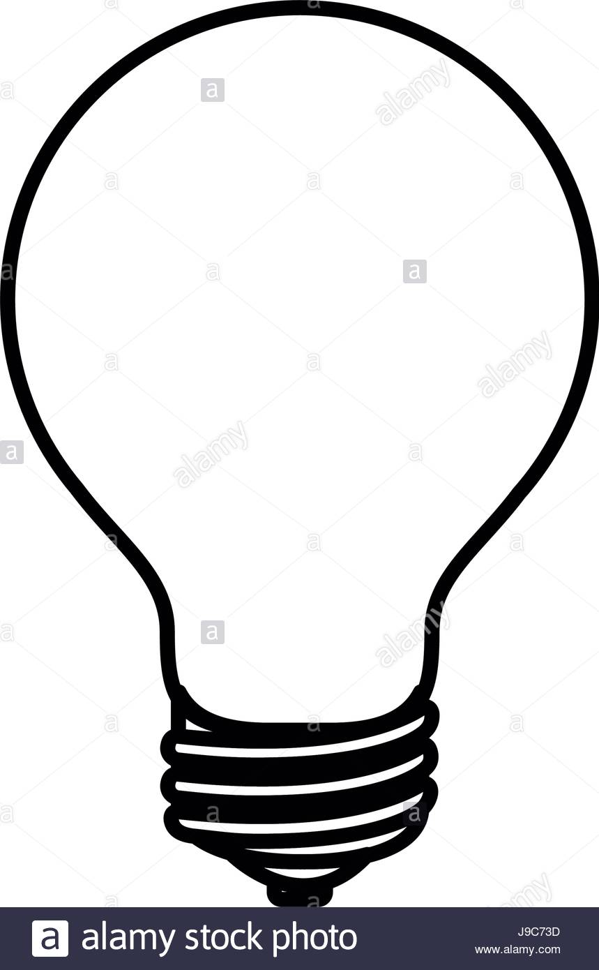 859x1390 Sketch Silhouette Image Light Bulb Off Icon Stock Vector Art
