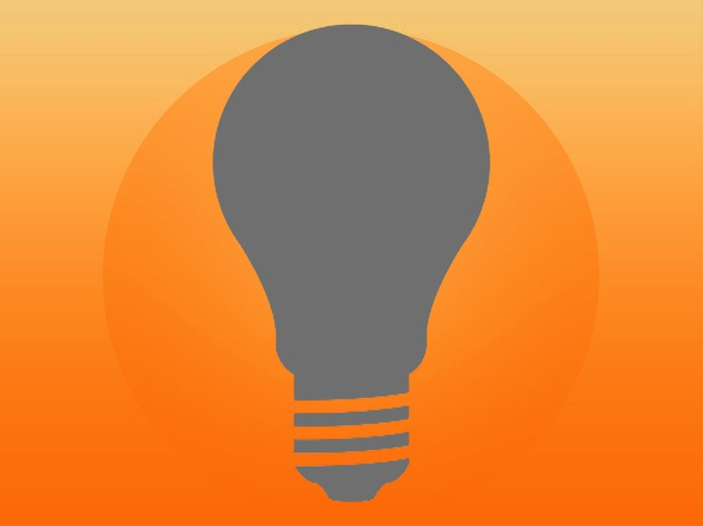 646x484 Gray Silhouette Of A Light Bulb Photo Free Download
