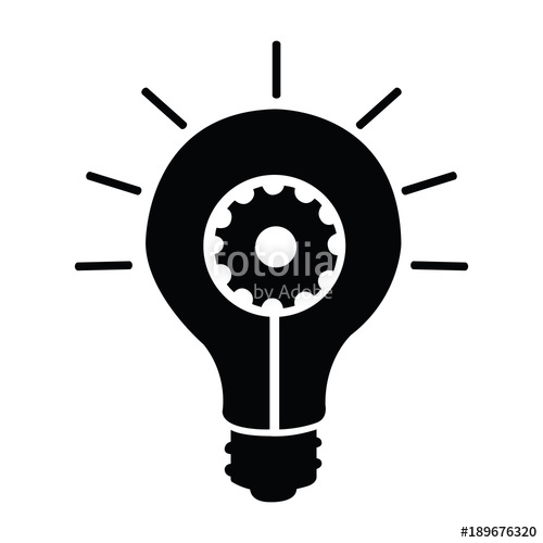 500x500 Light Bulb Silhouette Stock Image And Royalty Free Vector Files
