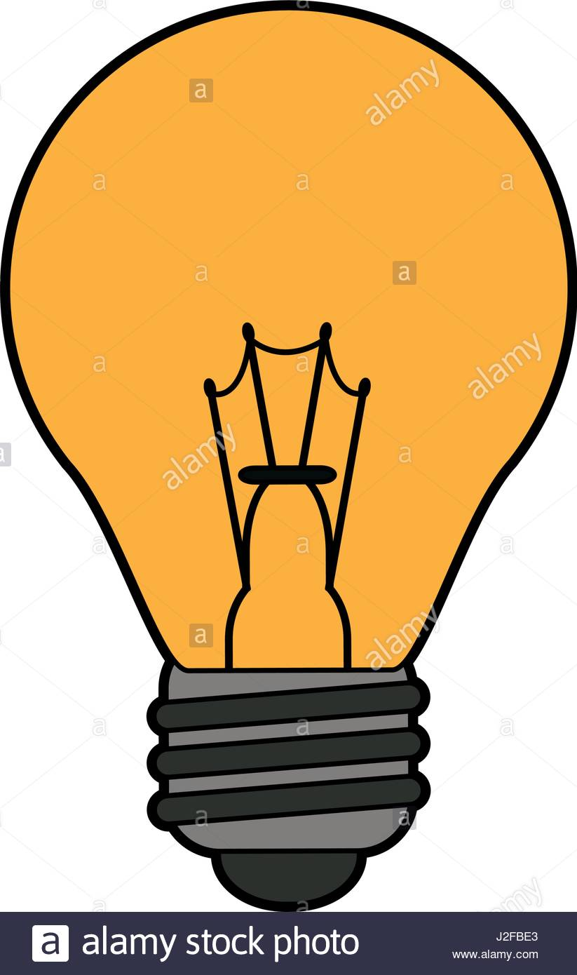 823x1390 Colorful Silhouette Light Bulb On Icon Stock Vector Art