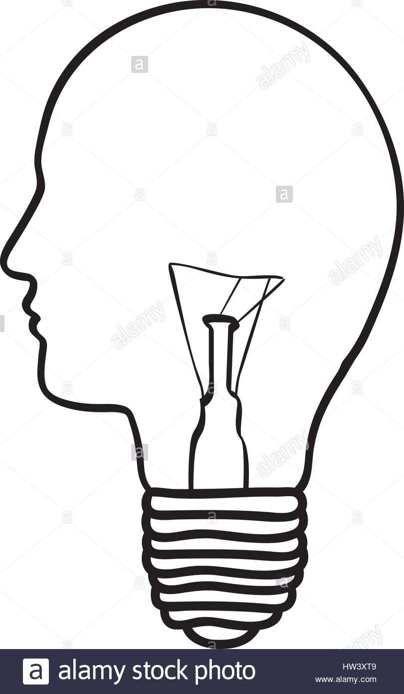 810x1390 Monochrome Silhouette Of Light Bulb With Glass In Shape Of Human
