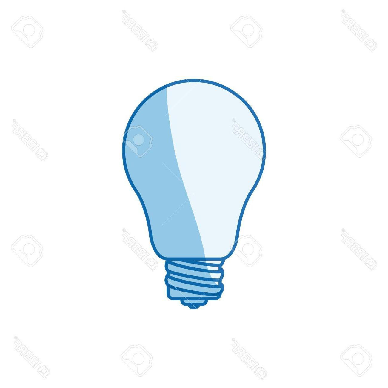 1300x1300 Best 15 Blue Color Shading Silhouette Light Bulb Icon Vector