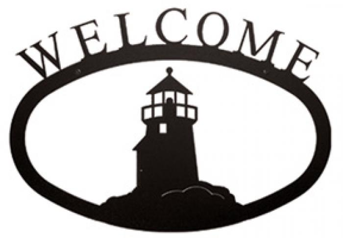 700x486 Village Wrought Iron Welcome Sign, Wrought Iron Sign