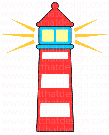 369x454 Design Lighthouse Using Basic Shapes In Silhouette Studio +