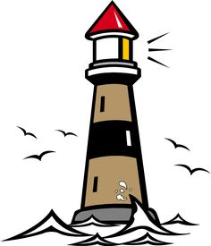 236x275 Illustration, Lineart, Lighthouse, Nautical, Marine, Beacon Clip