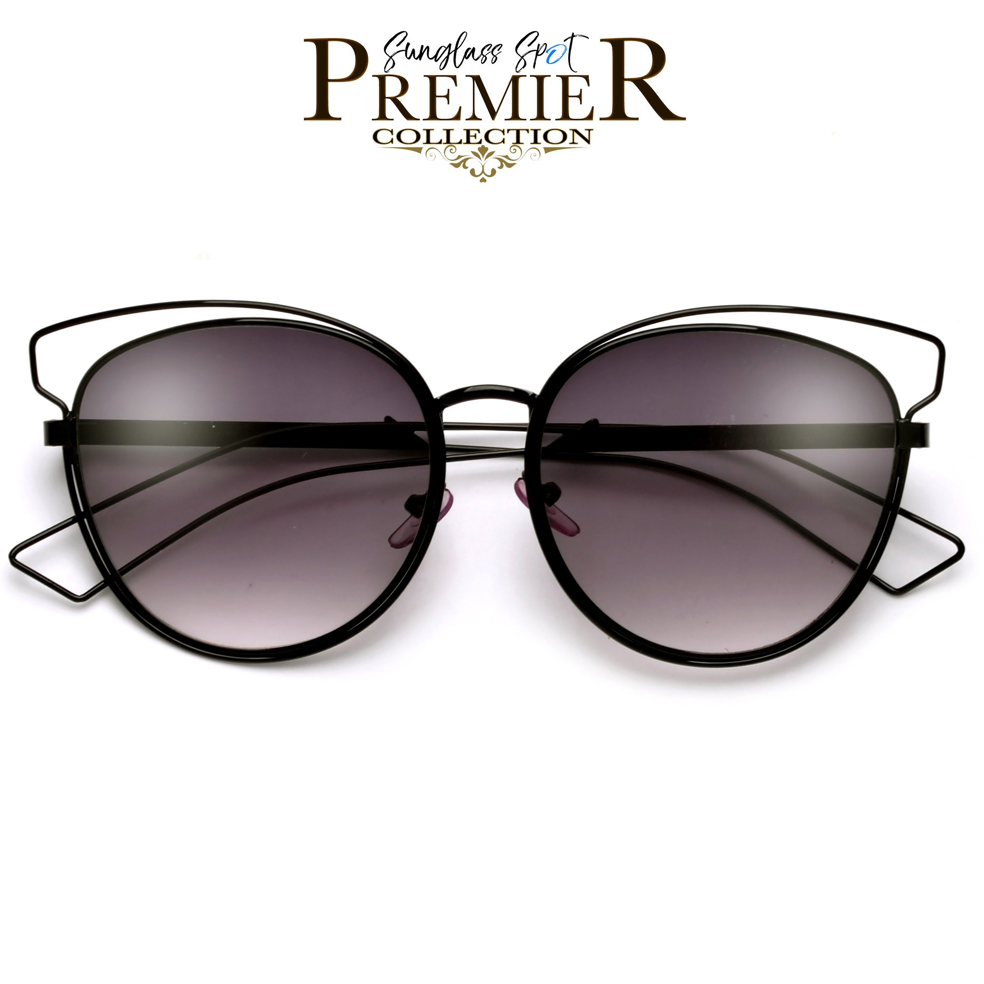 2000x2000 Premier Collection Thin Light Metal Wire Cat Eye Silhouette Ultra