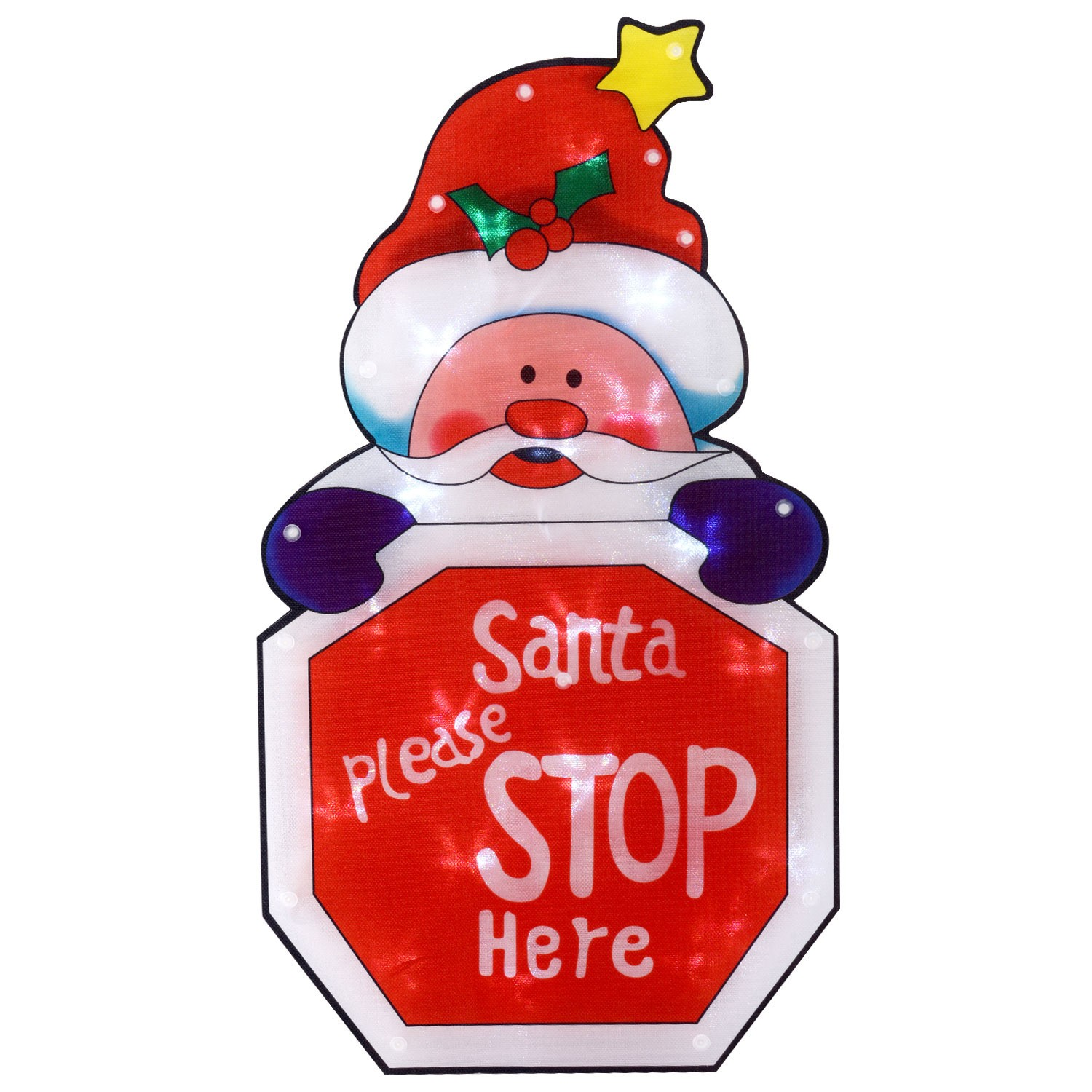 1500x1500 Santa Stop Here Sign Silhouetteavailable