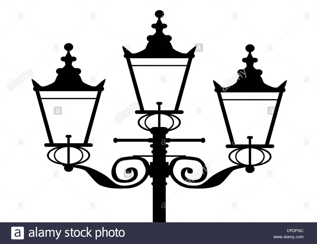 1300x1001 A Typical Old London Gas Street Light In Silhouette Stock Photo