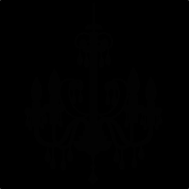 800x800 Silhouette Clipart Chandelier