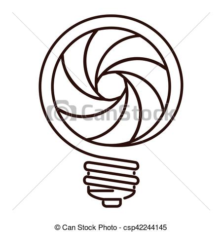 450x470 Silhouette Light Bulb Flat Icon With Spiral Shape Vector Eps