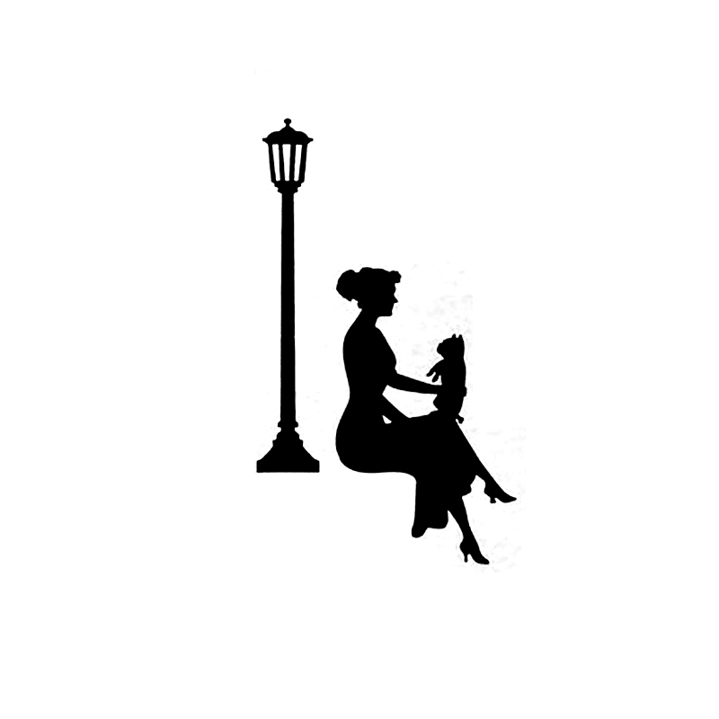 800x800 Woman Silhouette Wall Sticker For Powerpoints And Light Switches