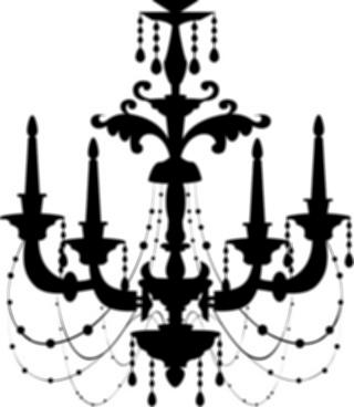 320x368 Chandelier Light Clipart Ornate Chandelier Vector Silhouette Set