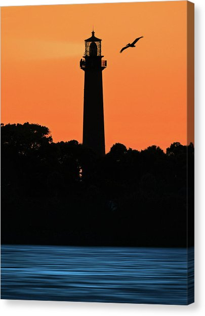 405x622 Jupiter Lighthouse Silhouette Photograph By Justin Kelefas
