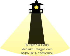 300x240 Art Image Of A Silhouette Of A Lighthouse With A Beam Of Light