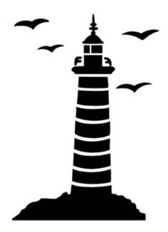 236x326 Lighthouse Silhouette Vector Fonts Lighthouse