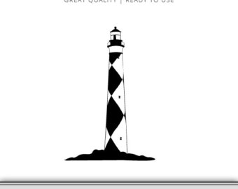 340x270 Lighthouse Clip Art Etsy