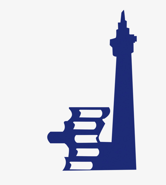 650x725 Blue Lighthouse And Book Silhouette, Blue, Silhouette, Lighthouse