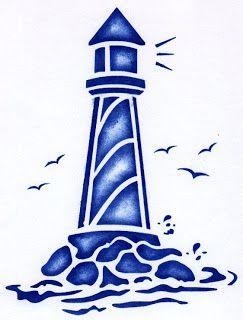 243x320 Free Lighthouse Stencil Beach Theme Stenciling