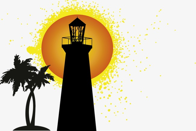 650x435 Lighthouse, Sunset, Vector Png And Vector For Free Download