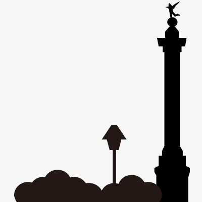 400x400 European And American Architectural Silhouettes, Lighthouse