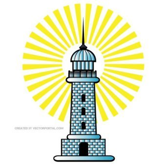 340x340 Lighthouse Free Vector 123freevectors