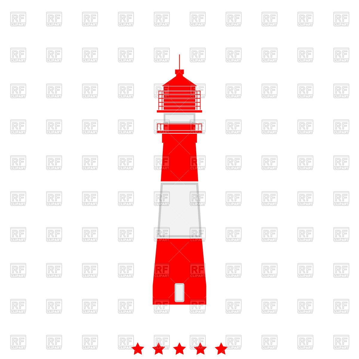 1200x1200 Lighthouse Red Icon Royalty Free Vector Clip Art Image