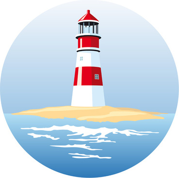369x368 Lighthouse Vector Free Vector Download (71 Free Vector)