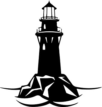339x355 St Marys Lighthouse Silhouette Vector Art Getty Images