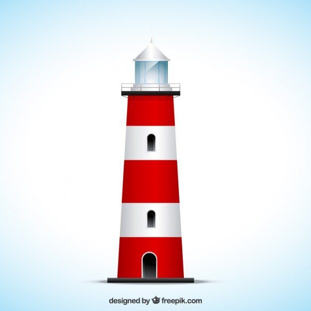 626x626 Striped Lighthouse Vector Free Download