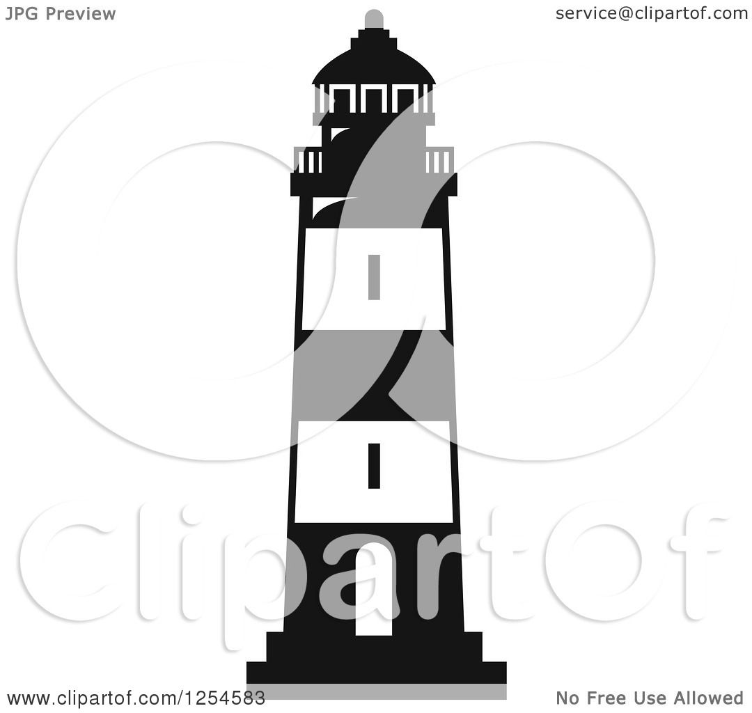 1080x1024 Clipart Of A Black And White Lighthouse