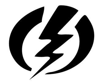 340x270 Lightning Bolt Decal Etsy