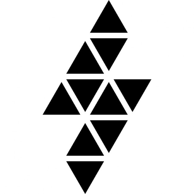 626x626 Lightning Bolt Polygonal Shape Of Small Triangles Icons Free