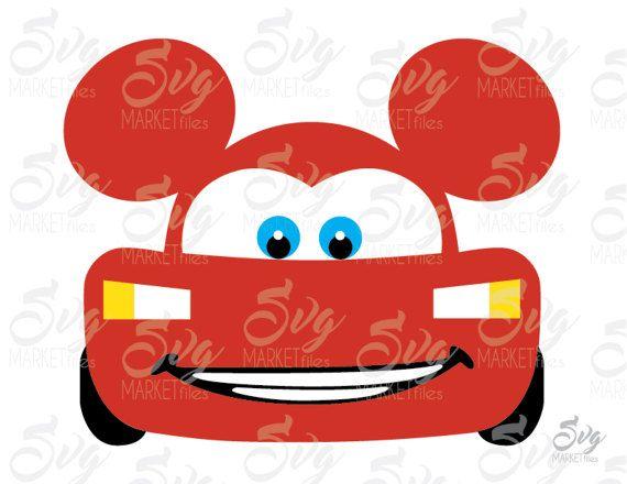 570x440 Lightning Mcqueen Ears Cars Disney By Storesvgmarketfiles