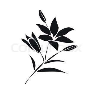 320x320 Silhouette Of Lily Stock Vector Colourbox