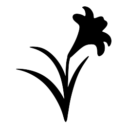 263x262 Easter Lily Silhouette Diy Silhouettes, Easter
