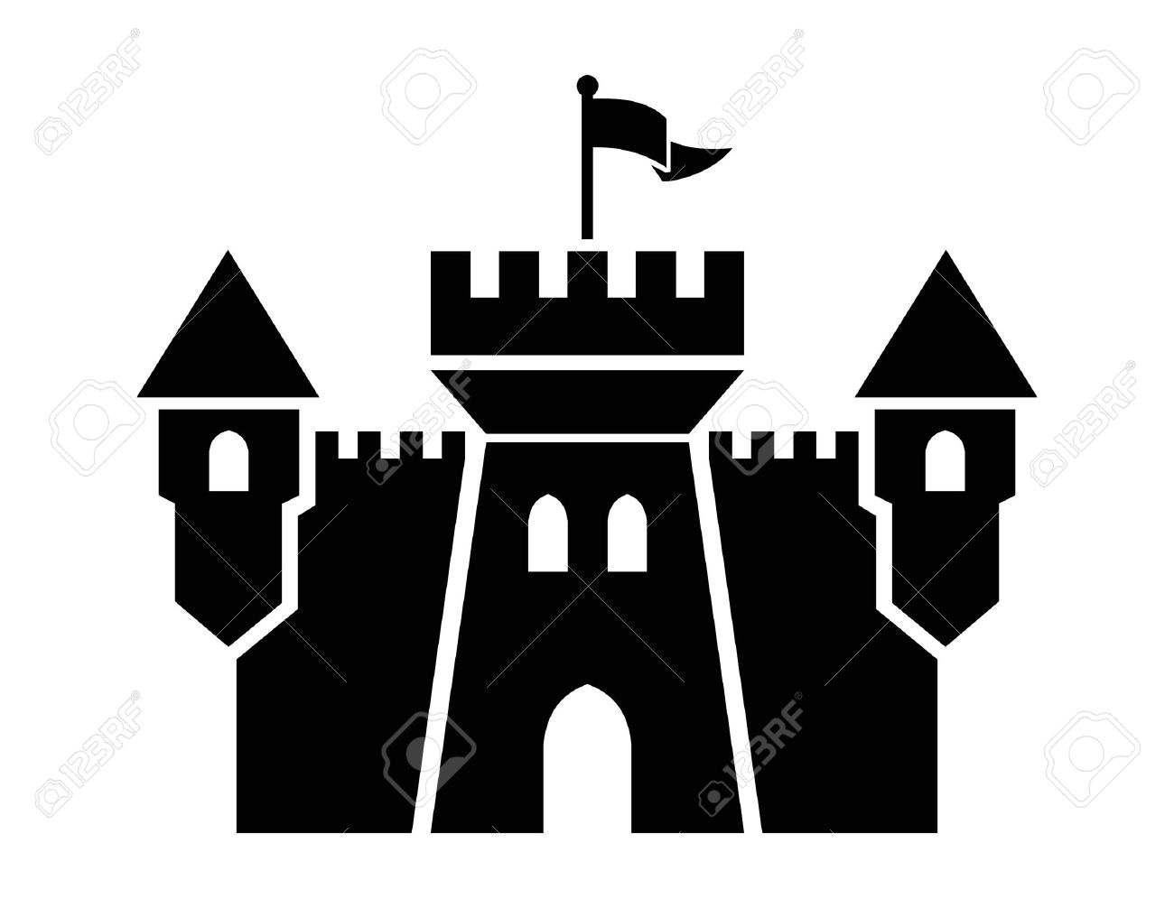 1300x1006 Clipart Castle Silhouette Collection