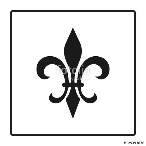 500x500 Fleur De Lis Symbol, Silhouette