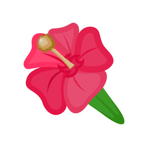 300x298 Lily Flower Vector Silhouette Royalty Free Stock Image