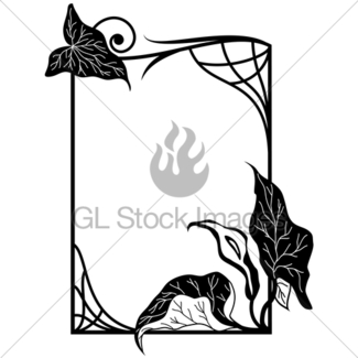 325x325 Lily Frame Gl Stock Images