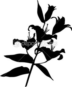 236x286 Lily Silhouette Stock Vector