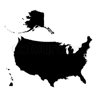 320x320 Silhouette Of Lincoln Memorial On United States Of America Flag