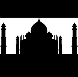 263x262 Taj Mahal Silhouette Free Svg Silhouette Cameo