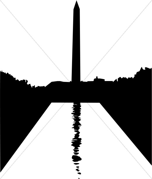 521x612 Washington Monument Silhouette Christian Classroom Clipart
