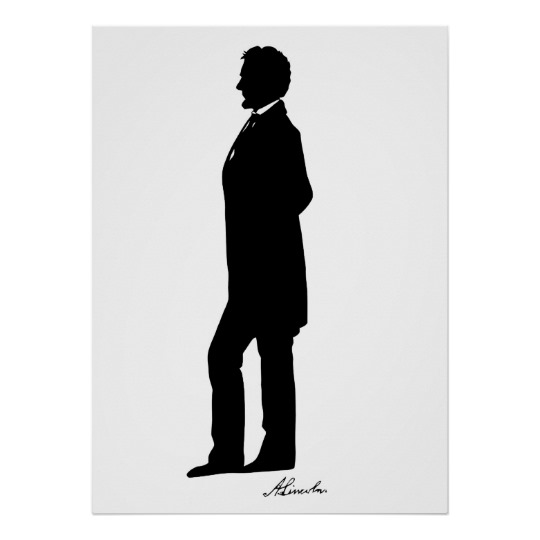 540x540 Abraham Lincoln Silhouette Poster