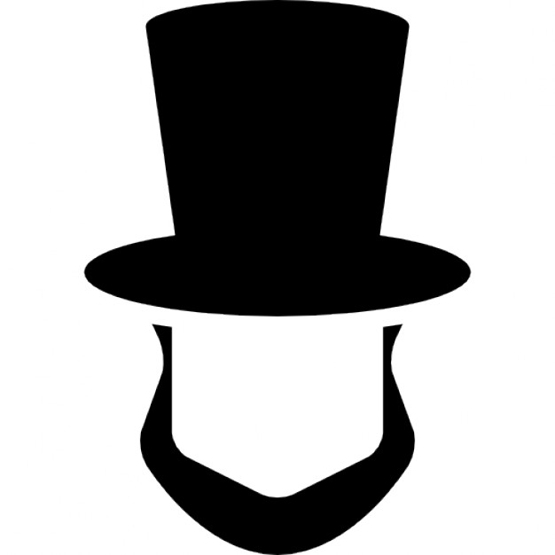 626x626 Abraham Lincoln Hat And Beard Shapes Icons Free Download