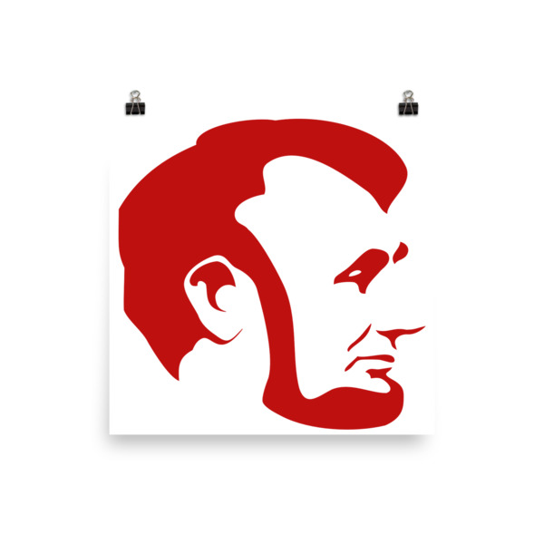 600x600 Abraham Lincoln Red Silhouette Poster Mclaughlin Mall