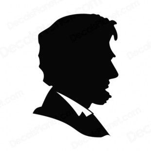 310x310 Abraham Lincoln Silhouette Coloring Page 2019