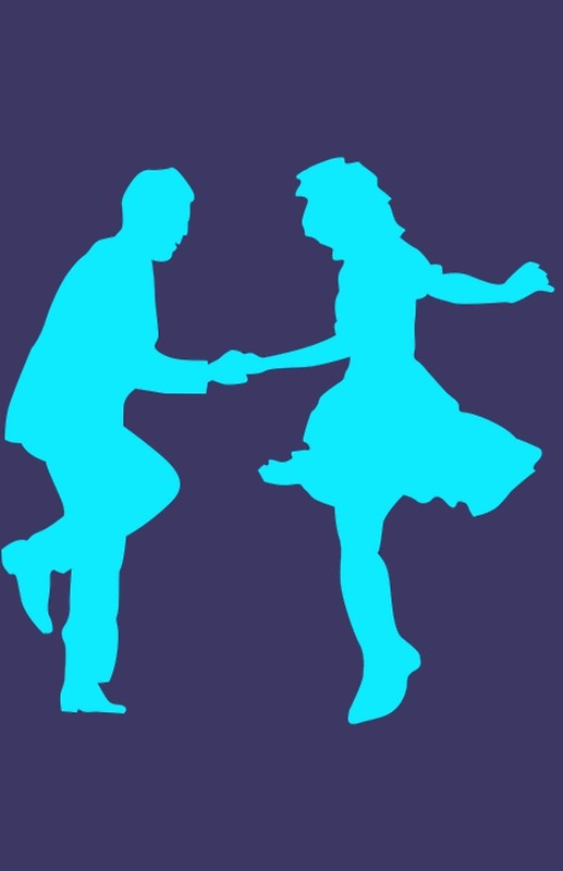 517x800 Lindy Hop Silhouette Posters By Slinky Reebs Redbubble