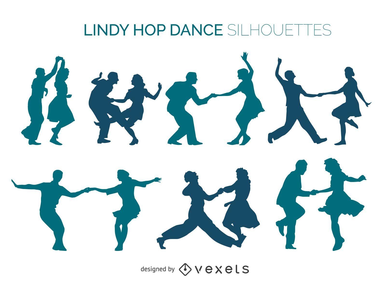 1600x1200 Lindy Hop Dancers Silhouette Set
