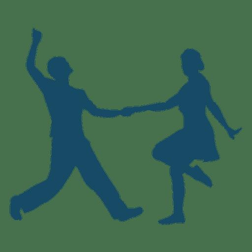 512x512 Lindy Hop Dance Couple Silhouette